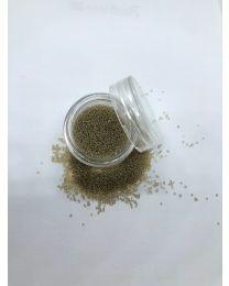 Guld brune caviar beads